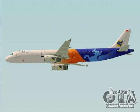Airbus A321-200 Myanmar Airways International para GTA San Andreas vista inferior