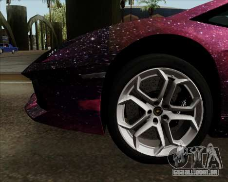 Lamborghini Aventador para GTA San Andreas vista inferior