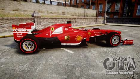 Ferrari F138 v2.0 [RIV] Alonso TSSD para GTA 4 esquerda vista