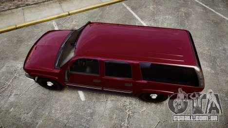 Chevrolet Suburban Undercover 2003 Black Rims para GTA 4 vista direita