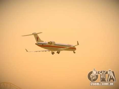 Bombardier CRJ-700 American Eagle para GTA San Andreas vista superior