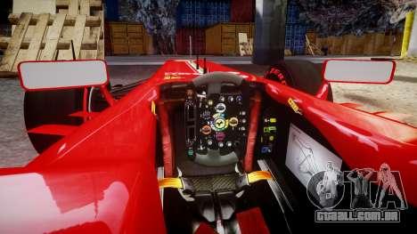 Ferrari F138 v2.0 [RIV] Alonso TSSD para GTA 4 vista interior
