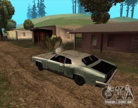 Pós-Apocalíptica Buccaneer para GTA San Andreas traseira esquerda vista