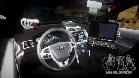 Ford Explorer 2013 Sheriff [ELS] Virginia para GTA 4 vista de volta