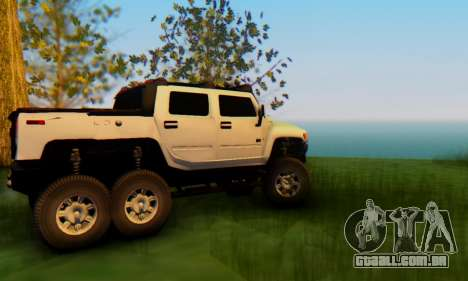 Hummer H6 Sut Pickup para GTA San Andreas vista interior