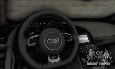 Audi R8 V10 Spyder 2014 para GTA San Andreas vista traseira