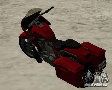 Bagger para GTA San Andreas esquerda vista