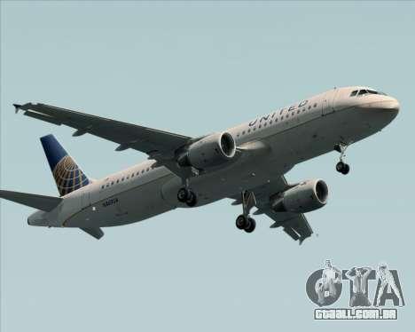 Airbus A320-232 United Airlines para GTA San Andreas vista interior