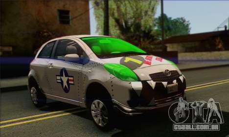 Toyota Yaris Shark Edition para GTA San Andreas vista direita