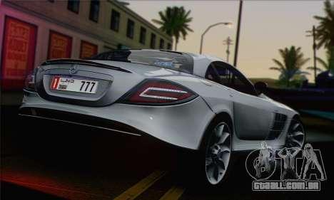 Mercedes-Benz SLR McLaren para GTA San Andreas esquerda vista