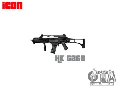 Rifle de assalto HK G36C para GTA 4 terceira tela