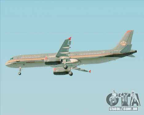 Airbus A321-200 Royal Jordanian Airlines para as rodas de GTA San Andreas