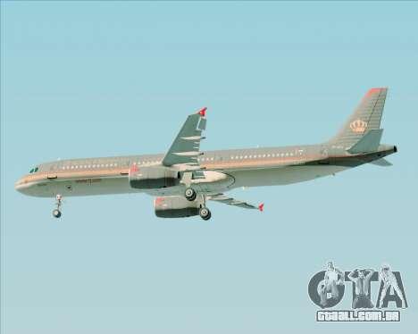 Airbus A321-200 Royal Jordanian Airlines para as rodas de GTA San Andreas