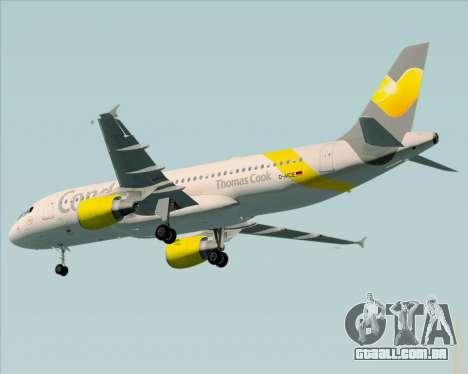 Airbus A320-212 Condor para GTA San Andreas vista traseira