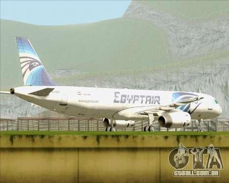 Airbus A321-200 EgyptAir para GTA San Andreas vista interior