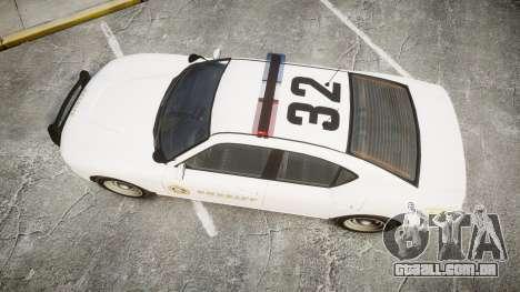 GTA V Bravado Buffalo LS Sheriff White [ELS] para GTA 4 vista direita