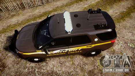 Ford Explorer 2013 Sheriff [ELS] Virginia para GTA 4 vista direita