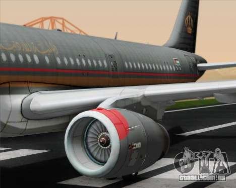 Airbus A321-200 Royal Jordanian Airlines para o motor de GTA San Andreas