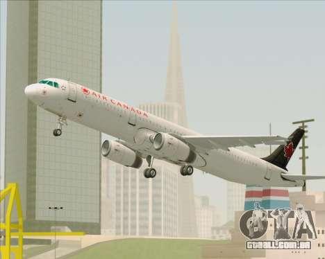 Airbus A321-200 Air Canada para o motor de GTA San Andreas