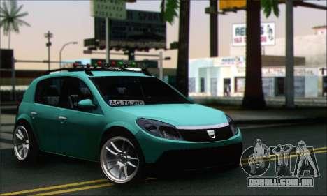 Dacia Sandero XIC para GTA San Andreas