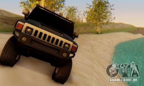 Hummer H6 Sut Pickup para GTA San Andreas vista traseira