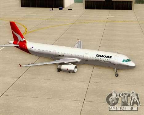 Airbus A321-200 Qantas para as rodas de GTA San Andreas