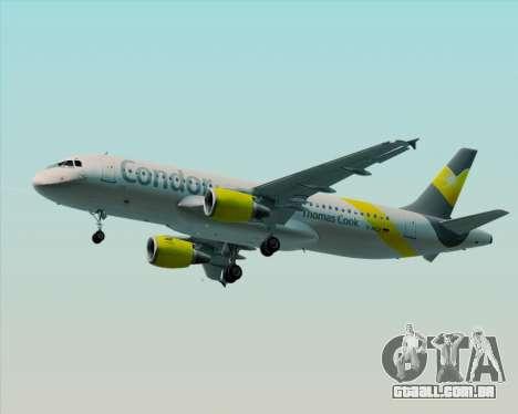 Airbus A320-212 Condor para GTA San Andreas esquerda vista