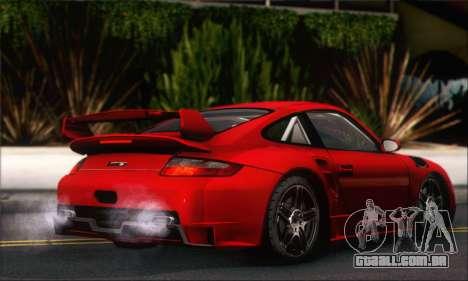 Porsche 997 Turbo Tunable para GTA San Andreas vista traseira