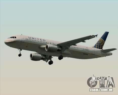 Airbus A320-232 United Airlines para GTA San Andreas vista direita