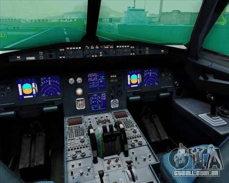 Airbus A321-200 EgyptAir para GTA San Andreas interior