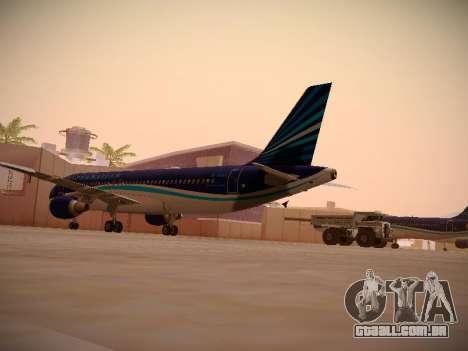 Airbus A320-214 Azerbaijan Airlines AZAL para GTA San Andreas vista direita