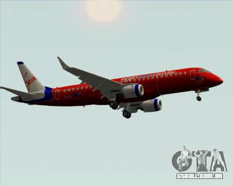 Embraer E-190 Virgin Blue para GTA San Andreas vista traseira