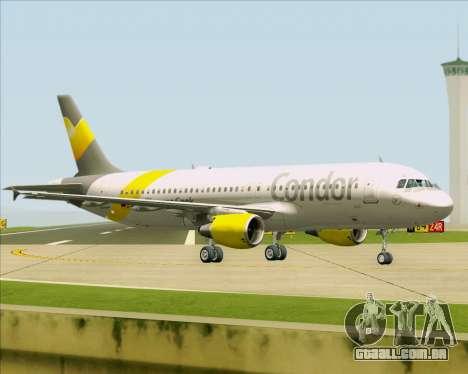 Airbus A320-212 Condor para GTA San Andreas traseira esquerda vista