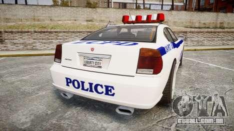 Bravado Buffalo Police para GTA 4 traseira esquerda vista