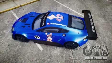 Aston Martin Vantage GTE Nico Yazawa para GTA 4 vista direita