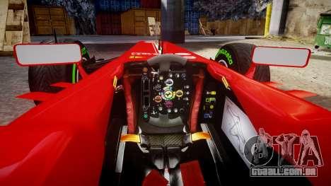 Ferrari F138 v2.0 [RIV] Massa TIW para GTA 4 vista interior
