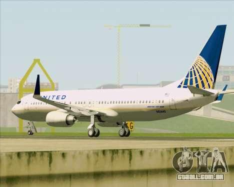 Boeing 737-824 United Airlines para GTA San Andreas vista inferior