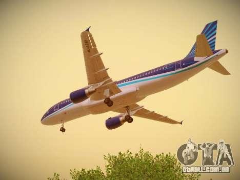 Airbus A320-214 Azerbaijan Airlines AZAL para GTA San Andreas vista inferior