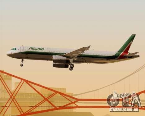 Airbus A321-200 Alitalia para as rodas de GTA San Andreas