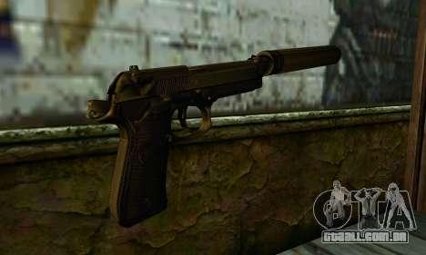 Beretta M9 Silenced para GTA San Andreas segunda tela