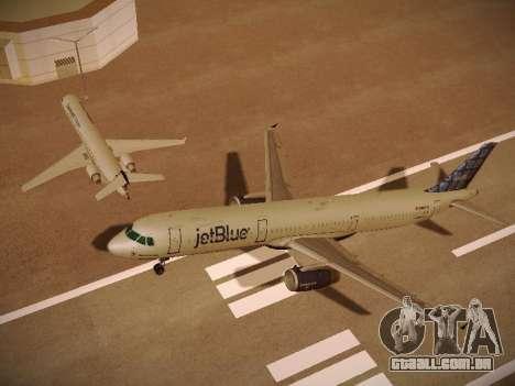 Airbus A321-232 jetBlue Blue Kid in the Town para o motor de GTA San Andreas