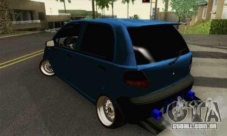 Daewoo Matiz Tuned para GTA San Andreas esquerda vista