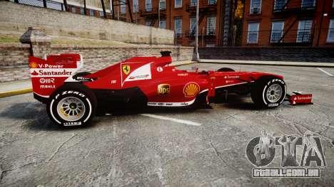 Ferrari F138 v2.0 [RIV] Alonso TMD para GTA 4 esquerda vista