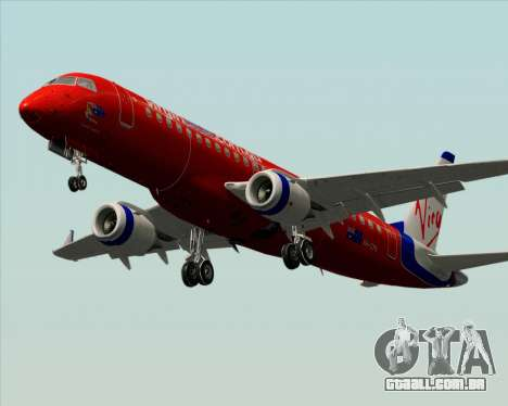 Embraer E-190 Virgin Blue para vista lateral GTA San Andreas
