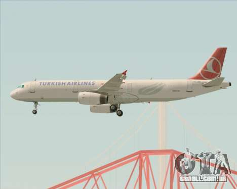 Airbus A321-200 Turkish Airlines para o motor de GTA San Andreas