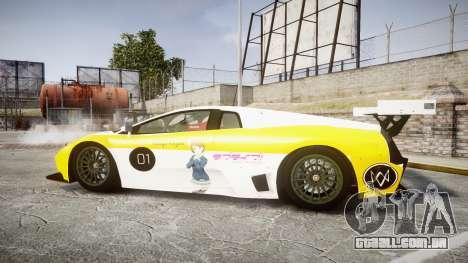 Lamborghini Murcielago GT1 Hanayo Koizumi para GTA 4 esquerda vista