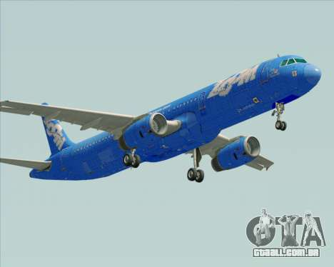 Airbus A321-200 Zoom Airlines para GTA San Andreas vista direita