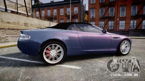 Aston Martin DB9 Volante 2005 VK Edition para GTA 4 esquerda vista