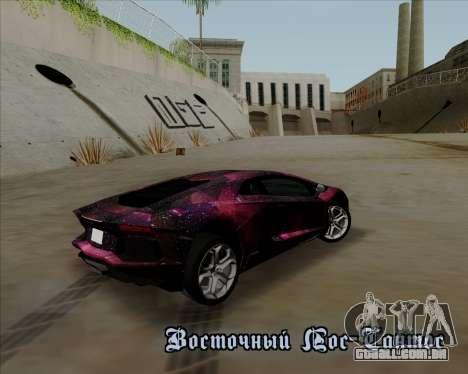 Lamborghini Aventador para GTA San Andreas vista superior