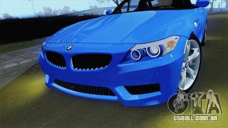 BMW Z4 sDrive28i 2012 Stock para GTA San Andreas vista direita